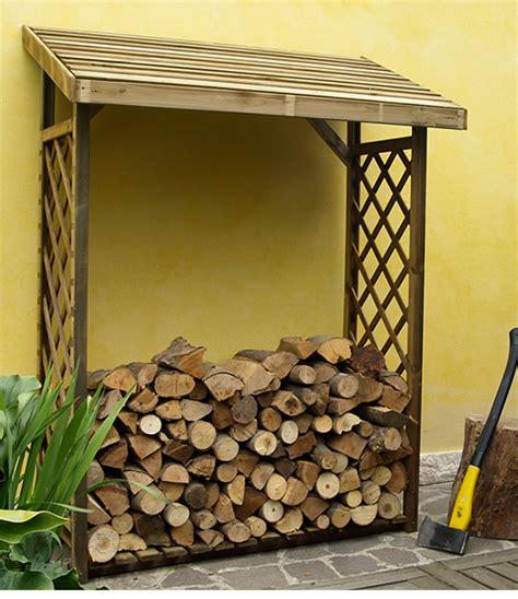tettoie per legnaia legnaia con griglia in legno porta legna da esterno tetto