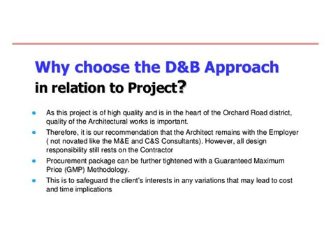 why choose design and build contract 20080704 innovative approach in contracts and tender