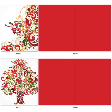 blank cards with envelopes for card m6030 seasonal swirls 10 assorted blank note cards w