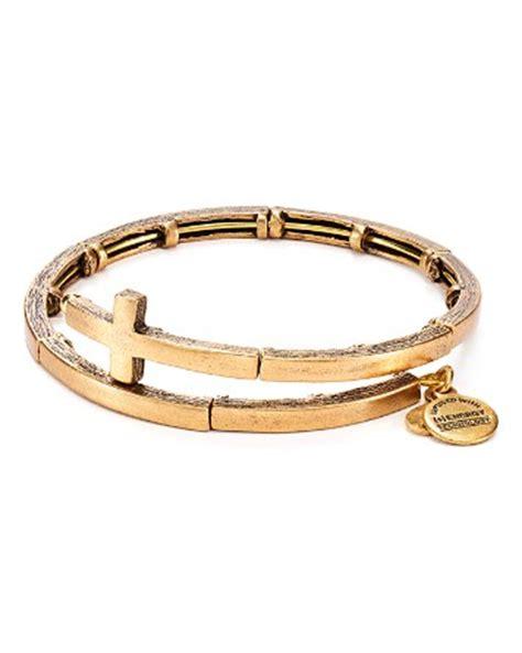 alex and ani cross metal wrap bracelet bloomingdale s