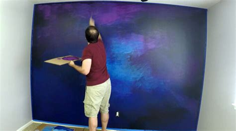 painting my bedroom wall youtube how to paint a galaxy wall mural in a spaceship themed