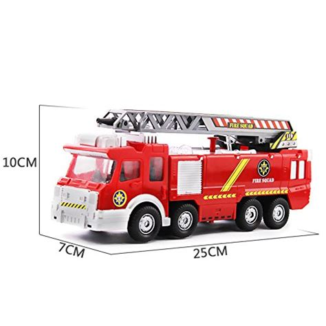 toy fire trucks with lights and sirens electric fire truck toy fire engine rescue veiche with