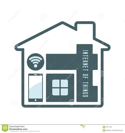 modern home design vector iot house technology icon stock vector image of vector