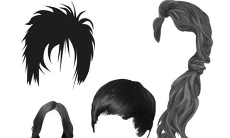 male hair templates for photoshop photoshop头发笔刷 设计达人