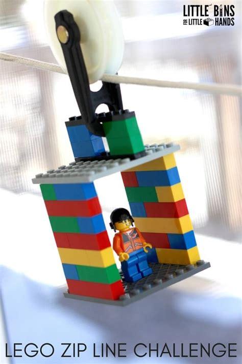 the line challenge lego zip line activity and kid s stem challenge