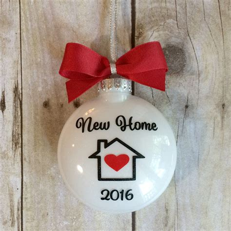 new home ornament christmas ornament by peartreepersonal