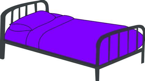 cartoon bed purple bed clip art at clker com vector clip art online