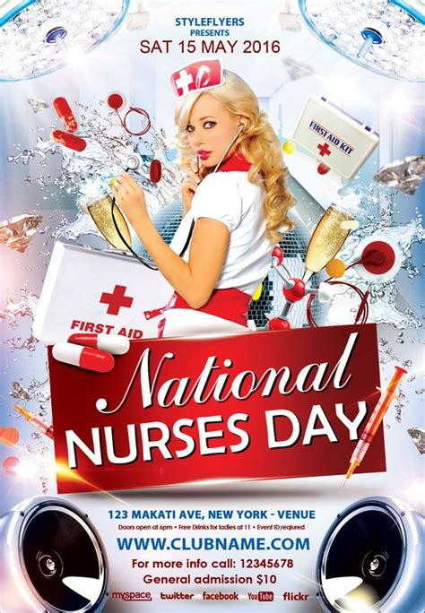 nurses week flyer templates free nurses day flyer psd template styleflyers use this flyer for your popular