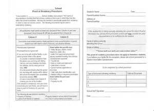 Certification Letter For Proof Of Residency Proof Of Residency Form Proof Of Residency Form