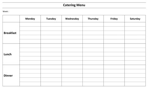 Free Catering Menu Template Free Catering Menu Templates For Microsoft Word