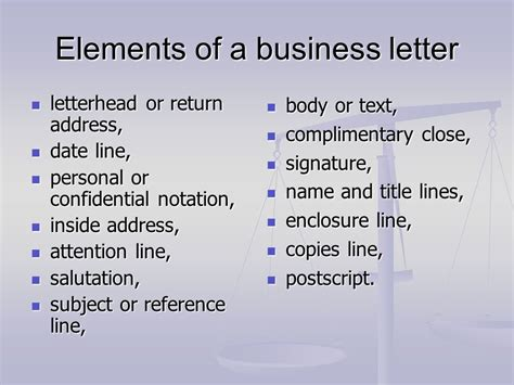 business letter signature title business letter writing ppt