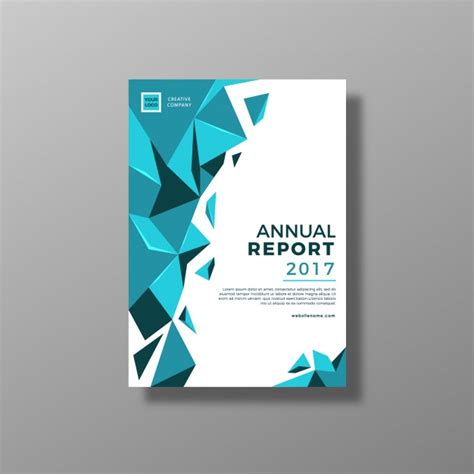 blue and white annual report design vector free download