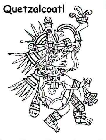 quetzalcoatl coloring page aztec religion introduction aztecs of mexico history