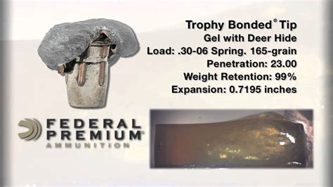 bullet performance federal premium trophy bonded tip