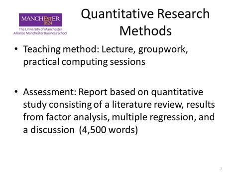 Literature Review Of Regression Analysis by The Business And Management Research Programme Ppt