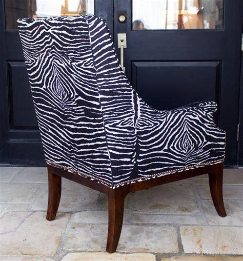 custom armchair le zebre custom armchair in zebra with brass nailheads at