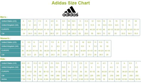 adidas shoes size chart indonesia style guru fashion glitz style unplugged