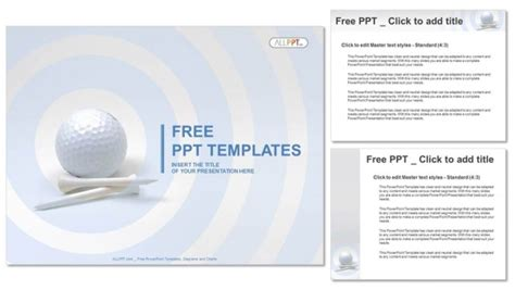 golf templates free golf and white tees powerpoint templates