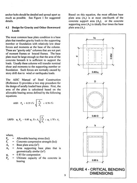 layout anchor gravity practical design and detailing of steel column base