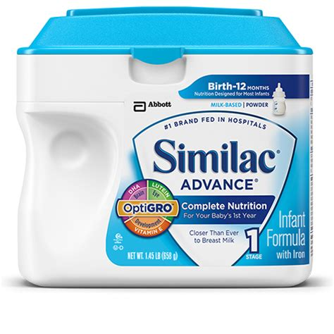 Similac Advance similac advance infant formula with iron stage 1 34 oz