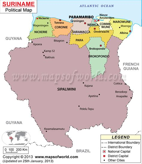 where is suriname on world map where is paramaribo location of paramaribo in suriname map