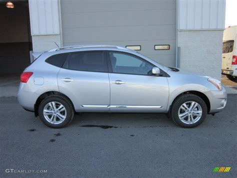 silver nissan rogue 2012 brilliant silver 2012 nissan rogue sv awd exterior photo