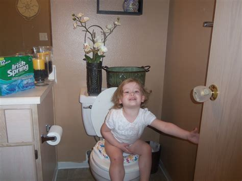 girl on toilet potty training the watson s potty time