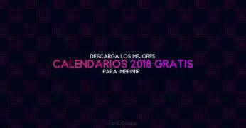 Calendario 2018 Para Imprimir Gratis 10 Calendarios 2018 Para Imprimir Gratis Recursos