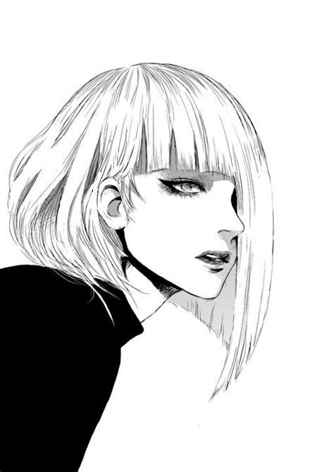 drawing of bob hair 求霸气动漫女头 百度知道
