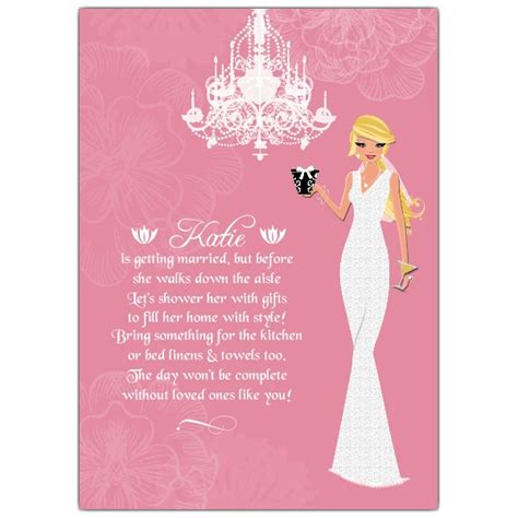 Blank Wedding Invites Pink Paper by And Lace Pink Bridal Shower Invitations Paperstyle