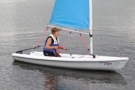 single handed sailing boats dinghy boat hire for members and learn to sail burwain