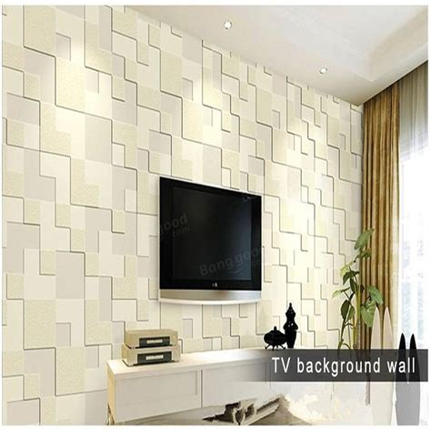 wallpaper home decor modern 10m modern simple 3d mosaic living room non woven