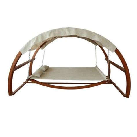 canopy swings home depot leisure season patio swing bed with canopy sbwc402 the