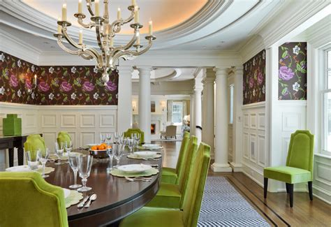 classical shingle traditional dining room boston
