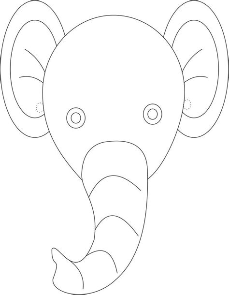 printable colouring elephant template new calendar