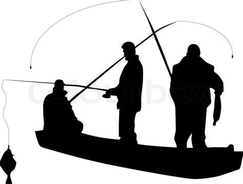drift boat clipart fishing silhouette vector stock vector colourbox