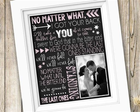 Wedding Song Lyrics Gift by 72 Best Weddings Gifts For The Custom Gifts