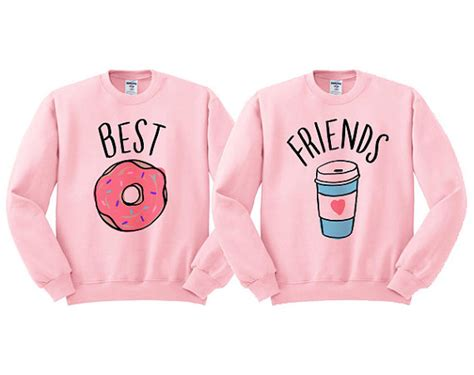 Jaket Sweater Hoodie Volvo Yomerch best friends donut and coffee duo sweatshirt shirt for best