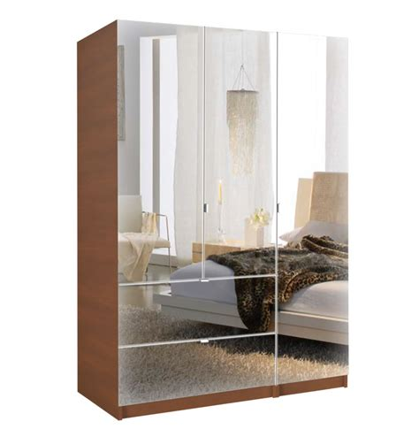 Mirrored Door Armoire by Alta Wardrobe Armoire 3 Door Armoire Right Opening