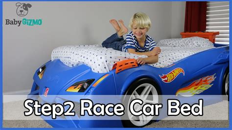hot wheels car bed hot wheels step2 toddler to twin race car bed review youtube