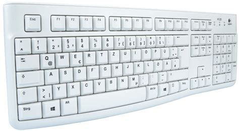 Keyboard Elektronik logitech k120fbw keyboard usb light grey at reichelt