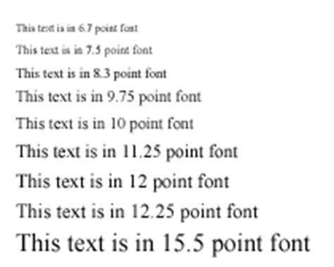 printed font size chart what is the difference between large print and giant print