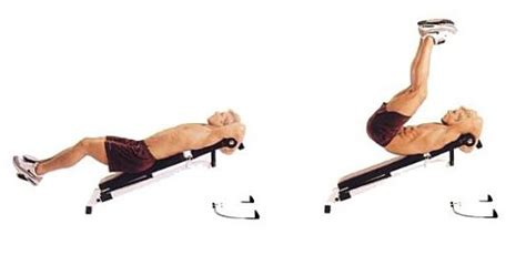 crunches on incline bench incline reverse crunch bodybuilding wizard