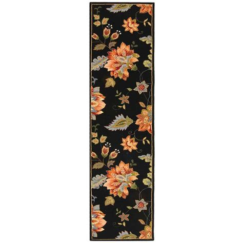 2 X 8 Runner Rugs Safavieh Chelsea Black 2 Ft 6 In X 8 Ft Rug Runner Hk306b 28 The Home Depot