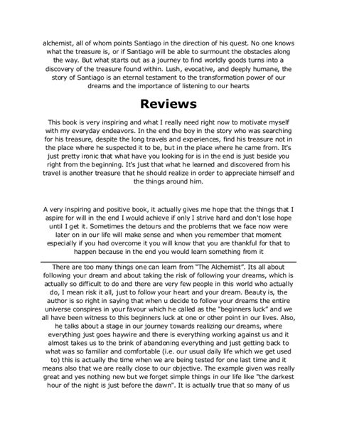 the alchemist book report the alchemist pdf