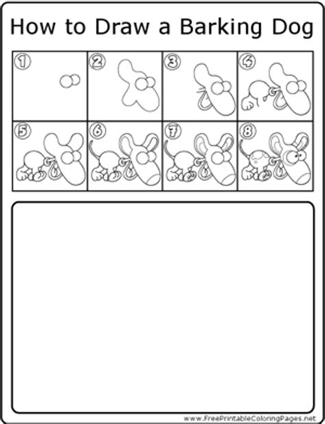 how to a barking how to draw barking coloring page