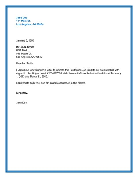 bank authorization cancellation letter 10 best authorization letter sles and formats