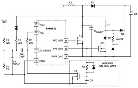 design methodology of resonant inductor in a zvs inverter fan4822 typical application reference design dc to dc single output power supplies arrow