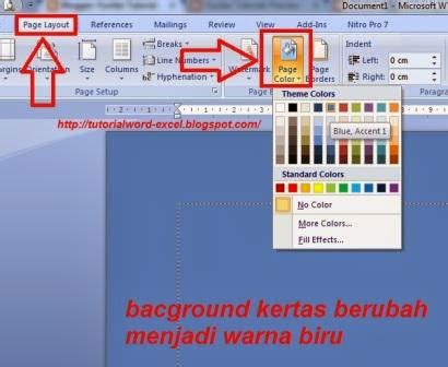 langkah langkah membuat halaman pada ms office word cara mengganti background microsoft word