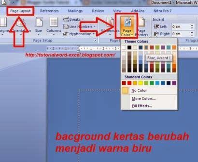 cara membuat background halaman pada word yuviter tutorial cara mengganti background halaman